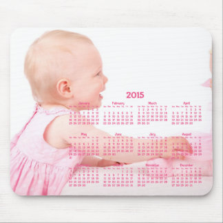Pink Custom Yearly Calendar 2015 Mousepads Baby
