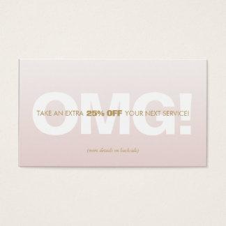 Pink Customer Discount Loyalty Coupon Salon Spa Business Card