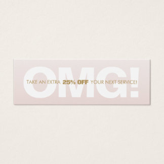 Pink Customer Discount Loyalty Coupon Salon Spa Mini Business Card