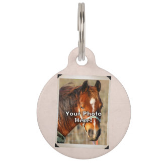 Pink Customizable Horse Tack or Blanket Tag Pet Name Tags