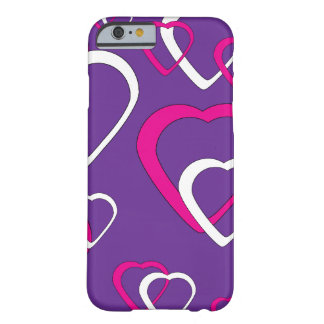 Pink Cut Out Hearts Barely There iPhone 6 Case