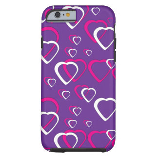 Pink Cut Out Hearts Tough iPhone 6 Case