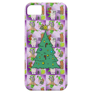 Pink cute angels witha Christmas tree iPhone SE/5/5s Case