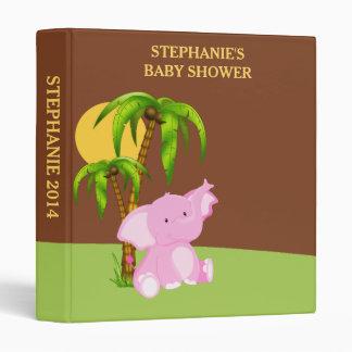 Pink Cute Baby Elephant Photo Album Binder
