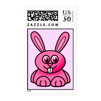 {Pink} Cute Bunny Postage