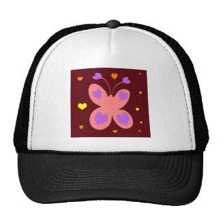 Pink Cute Butterfly Mesh Hats