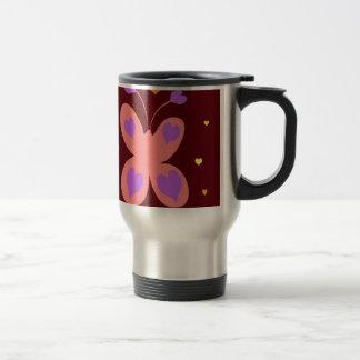 Pink Cute Butterfly Coffee Mugs