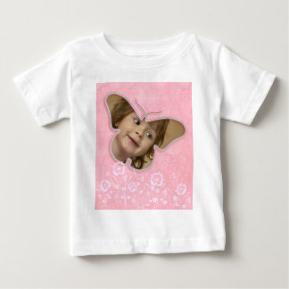 Pink cute butterfly photo frame gifts for girls baby T-Shirt