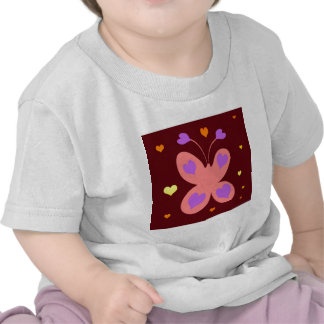 Pink Cute Butterfly Tees