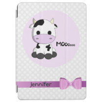 Pink cute cow kawaii cartoon girls ipad cover case