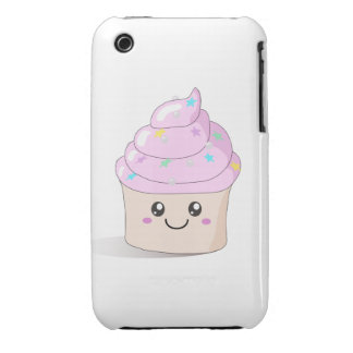 Pink Cute Cupcake iPhone 3 Cases