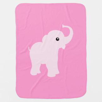 Pink cute elephant blanket for baby girl receiving blanket