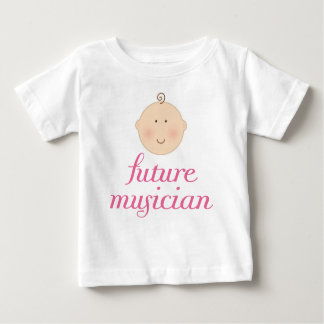 Pink Cute Future Musician baby head Baby T-Shirt