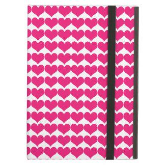 Pink Cute Hearts Pattern Powis iPad Air Case