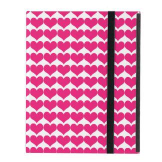 Pink Cute Hearts Pattern Powis iPad Case