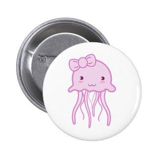 Pink Cute Jellyfish Button