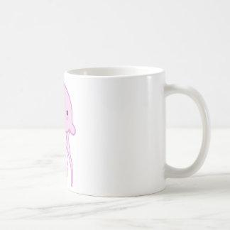 Pink Cute Jellyfish Coffee Mugs