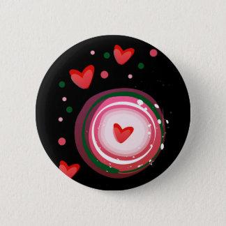 pink cute love circle button