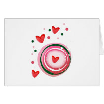 pink cute love circle card