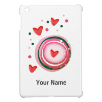 pink cute love circle case for the iPad mini