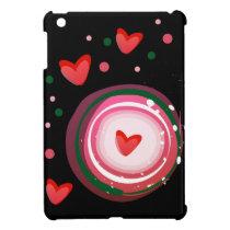 pink cute love circle iPad mini covers
