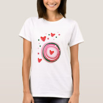 pink cute love circle T-Shirt