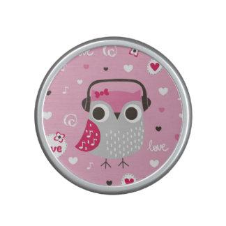 Pink,cute,owl,funny,girly,pattern,trendy,template, Speaker