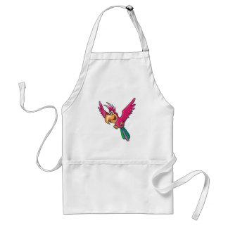pink cute parrot adult apron