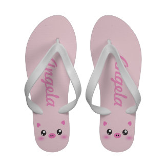 Pink cute Pig Face - personalized Sandals