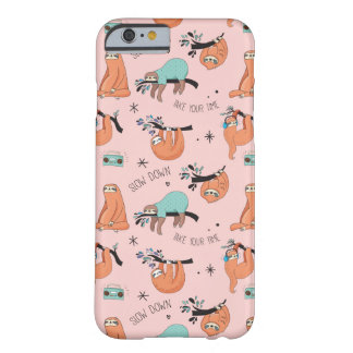 Pink Cute Sloth iPhone Case