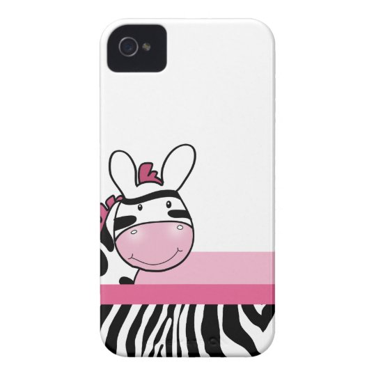 Pink Cute Zebra Blackberry Phone Case