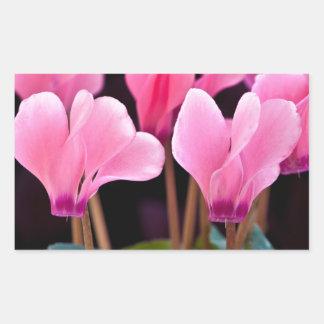 Pink Cyclamen Rectangular Sticker