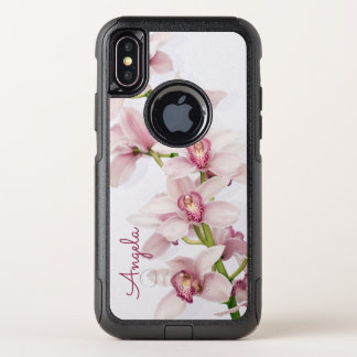 Pink Cymbidium Orchid Floral OtterBox Commuter iPhone X Case