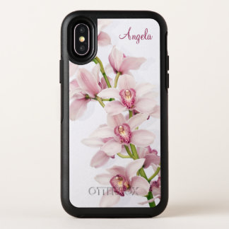 Pink Cymbidium Orchid Floral OtterBox Symmetry iPhone X Case