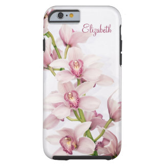 Pink Cymbidium Orchid Floral Tough iPhone 6 Case