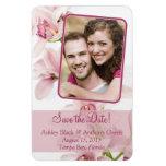 Pink Cymbidium Orchid Floral Wedding Photo Magnet Vinyl Magnet