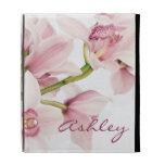 Pink Cymbidium Orchid Personalized iPad Case