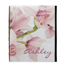 Pink Cymbidium Orchid Personalized iPad Case
