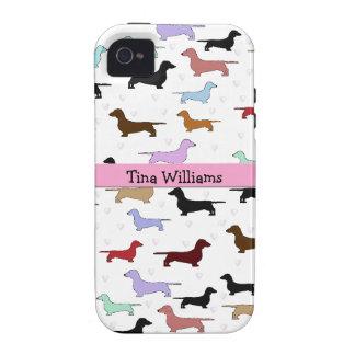Pink Dachshund iPhone 4 Case