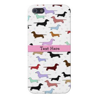 Pink Dachshund iPhone 5 Case