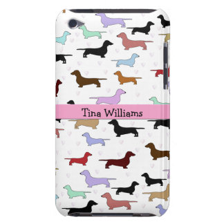 Pink Dachshund iPod Touch Case