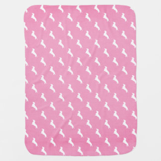 Pink Dachshund Print Receiving Blanket