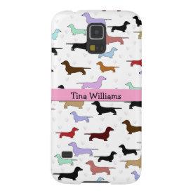 Pink Dachshund Samsung Galaxy S5 Case