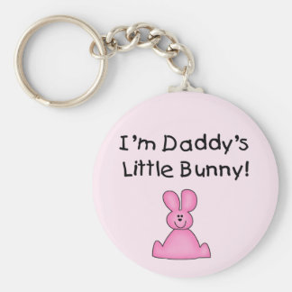 Pink Daddy's Little Bunny T-shirts and Gifts Key Chain