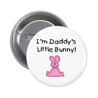 Pink Daddy's Little Bunny T-shirts and Gifts Pinback Button