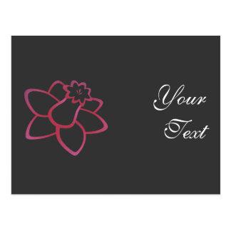 Pink Daffodil Postcard