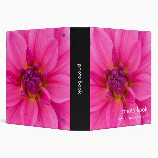 Pink Dahlia 3 Ring Binder