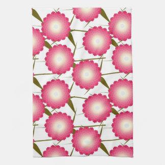 Pink Dahlia American MoJo Kitchen Towels