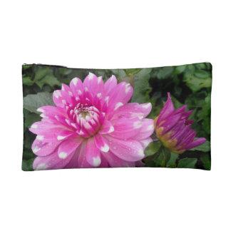 Pink Dahlia Cosmetic Bag