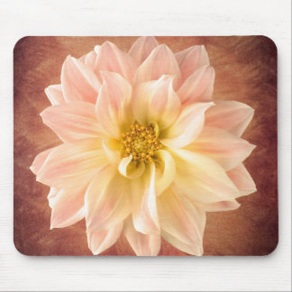 Pink Dahlia Flower Blossom Floral Mouse Pad